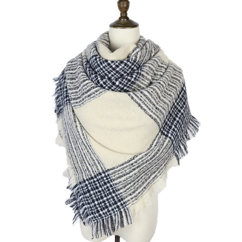 Women's Autumn Winter Warm Scarfs 2019 Fashion 40 Color Striped Shawls And Wraps Bandanas Casual Cashmere Scarves For Ladies