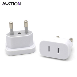 AUKTION 4.8mm USA to the EU Conversion Plug Adaptor With Security Door AC Power Adapter Phone Travel Wall Charge Socket Adapter