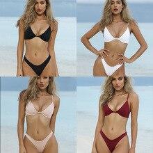 2020new Amazon Foreign Trade, solid color steel ring bikini, bandage sexy split swimsuit tankini  women tankini split tankini set