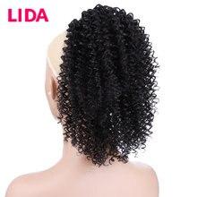 Lida афро кудрявый конский хвост индийские человеческие волосы