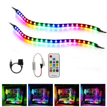 LED Strip pixel light ws2811 IC Dynamic RGB 5050 Dream Color 12V Addressable tape lamp for Mid Tower PC Computer Case Gamer DIY(China)