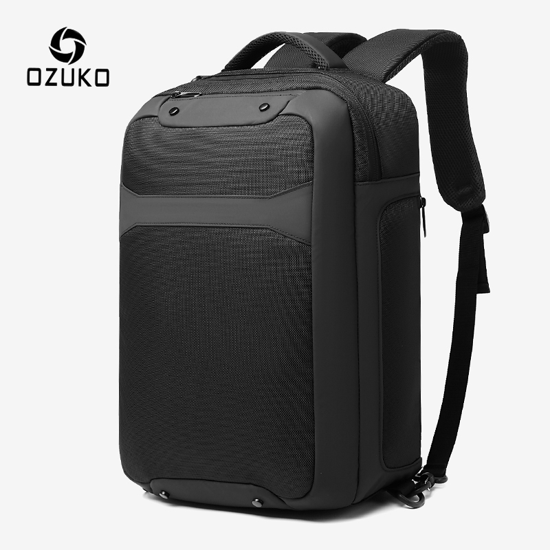 OZUKO Anti Theft Men 15.6 Inch Laptop Backpack USB Charging Waterproof Backpacks Casual Male Travel Bag Large Capacity Mochila