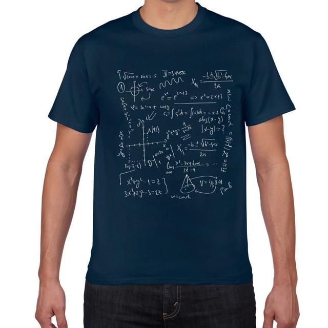 수학 공식 과학 tshirt 남성 코튼 크리 에이 티브 재밌는 t-셔츠 남성 쿨 여름 참신 티 셔츠 Homme GEEK Top Tee Men clothes