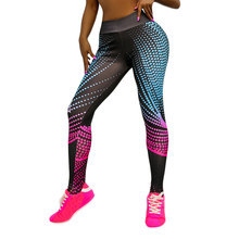 Women's Sport Leggings Digital Printed High-waist Sports Fitness Running Yoga Nine-minute Pants Fitness Clothing #15