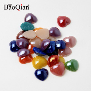 6/8/10/12mm Mixed Heart Stone Crafts Beads Embellishment Flatback Cabochon Scrapbooking DIY Decoration Accessories
