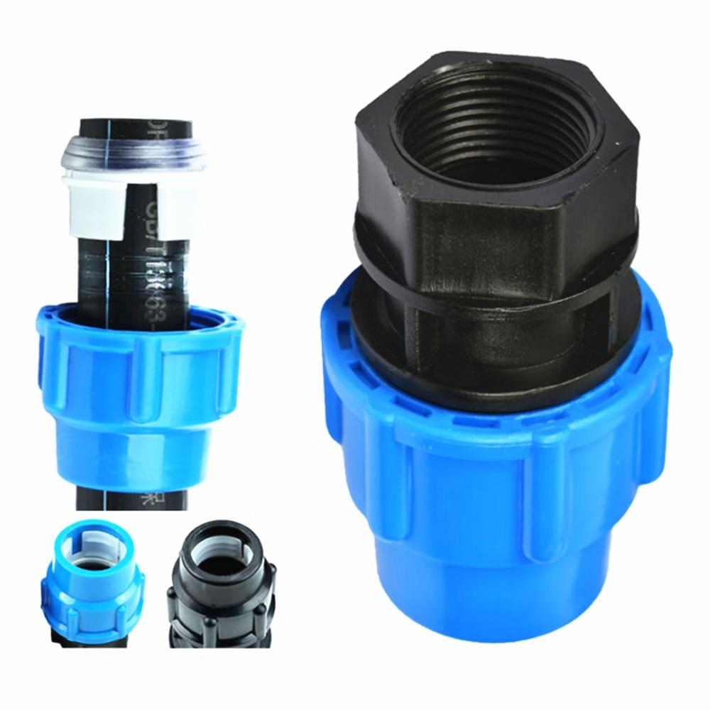 Plastic PE Water Pipe Quick Connection Female Thread 1/2