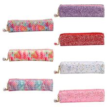 Kawaii Sequin Pencil Case School Pencilcase Makeup Box Bag Supplies Stationery Student Gift