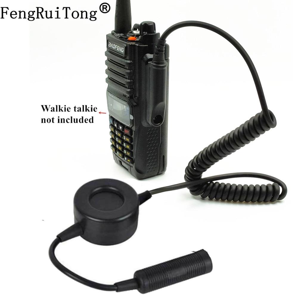 For Z-Tactical TCA-SKY PELTOR Headset NATO circular PTT for Baofeng UV-XR A58 UV9R UV-9R Plus GT-3WP UV-5S Radio Walkie Talkie