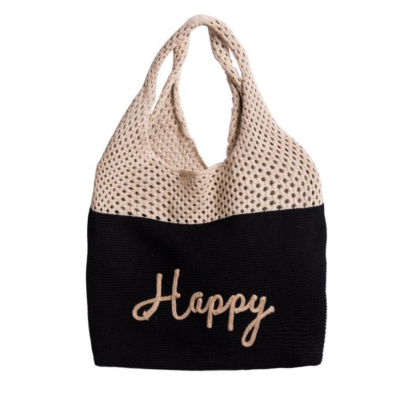 Mabula retro algodão tote bolsa artesanal tecido macio sacos de ombro grande capacidade sacola de compras