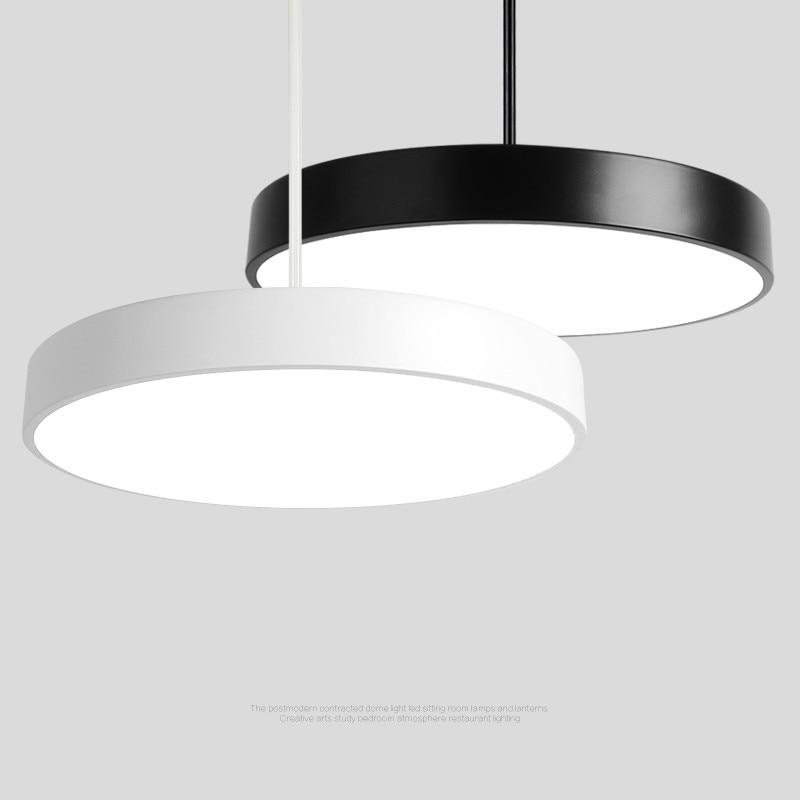 Round LED Panel Pendant Lights  restaurant office pendant lights  kitchen hanging lamps decorations for home   WJ121313