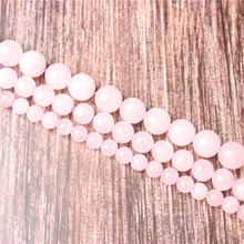 Hot Sale Natural Stone Pink Crystal  Beads 15.5 Pick Size: 4 6 8 10 mm fit Diy Charms Beads Jewelry Making Accessories