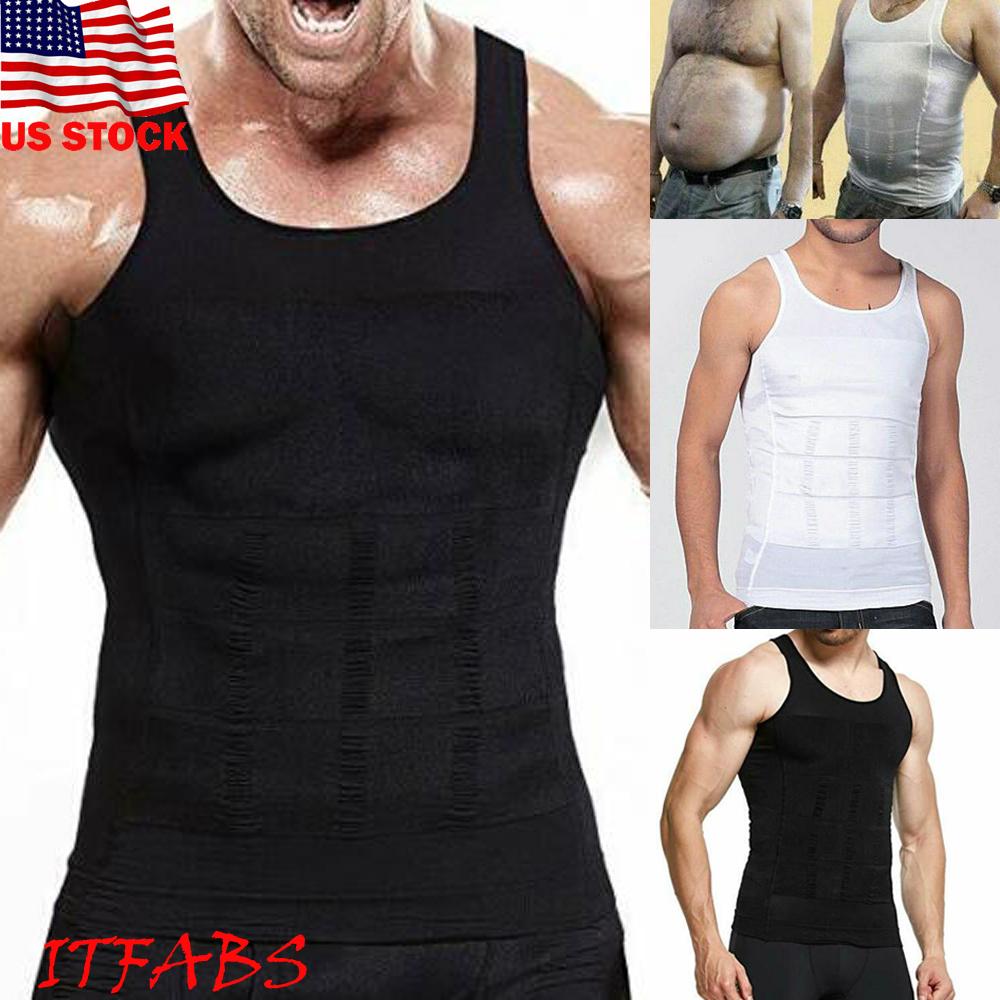 Men Body Shaper Vest Slimming Chest Belly Waist Man Boobs Compression T-Shirt UK