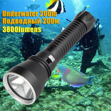 3800LM XHP70.2 LED Waterproof Scuba Diving Flashlight Underwater 200M 26650 Torch Powerful Fishing Hunting Light Rechargeable