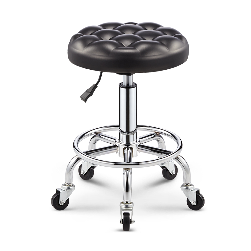 Beauty Stool Barber Shop Chair Hair Salon Rotary Lifting Round Stool Work Bench Nail Stool Pulley Beauty Salon Stool