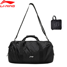 Li-Ning тренировочная сумка для спортзала 500*280*290 мм нейлоновая полиэфирная складная дорожная сумка с подкладкой спортивные сумки для фитнеса рюкзак ABDP304 BJF148