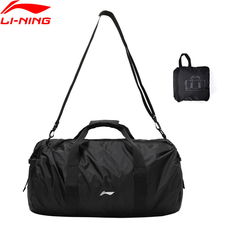 Li-Ning Training Bag Gym 500*280*290mm Nylon Polyester Foldable Travel Handbag LiNing Fitness Sports Bags Daypack ABDP304 BJF148