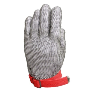 Nowe rękawice ochronne 304 ze stali stalowy łańcuch rękawiczki do obróbki drewna do przetwórstwa mięsa korzystania w kuchni raki rękawiczki (M)