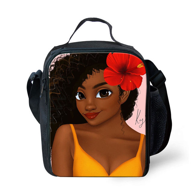 Black Queen African American Girl School Bag For Teenagers 4