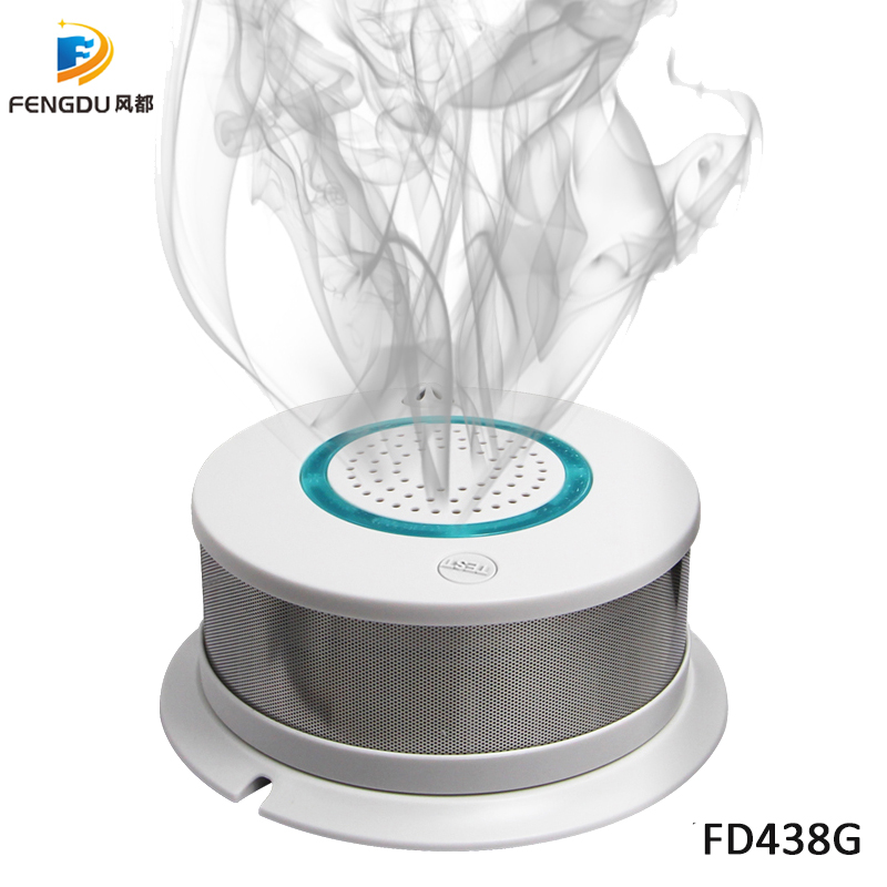 High sensitivity GSM/GPRS smart smoke detector support SMS/voice monitoring/center network Carbon Monoxide Detectors     - title=