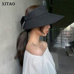 Женская Летняя шляпка от солнца XITAO, черная элегантная тонкая Повседневная шляпка с бантом, модель DMY4983, 2020