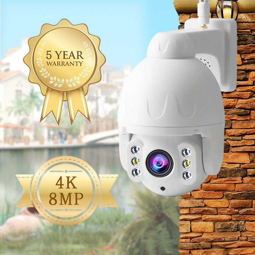 IP Camera 8mp 4k/1080P Wifi Camera Outdoor Camera Color Night Vision Wifi PTZ Security Speed Dome Camera 360 Camera Cctv Camera