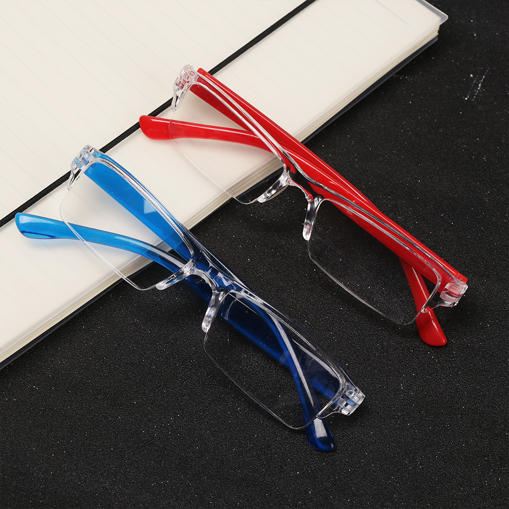 Men Women Bifocal Ultra-light Fashion Reading Glasses Resin Anti-skidding Candy Color Magnifying Eyeglass Presbyopic +1.0~+4.0