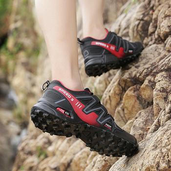 Duże rozmiary 2021 męskie miękkie odkryte obuwie letnie oddychające siatkowe trampki lekkie czarne obuwie turystyczne modne buty do biegania tanie i dobre opinie Srnfean CN (pochodzenie) Lato RUBBER Z elementami naszywanymi Z patchworku Dla osób dorosłych Mesh A905 Sznurowane Mieszkanie (≤1cm)