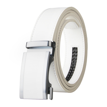 2020 New arrivals Belt Men's Leather White Automatic Buckle