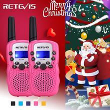 2 шт игрушка Walkie Talkie детская радиостанция Retevis RT388 0,5 Вт PMR PMR446 двухсторонний радио фонарик коммуникатор Рождественский подарок
