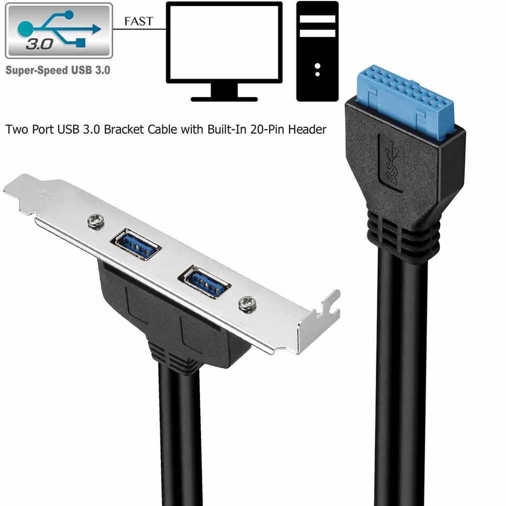 USB 3.0 Arka Panel Genişletme braketine 20-Pin Başlık Kablosu 2-Port Süper Hızlı USB 3.0 5 Gb/s USB 3.0 Ana ve Cihaz