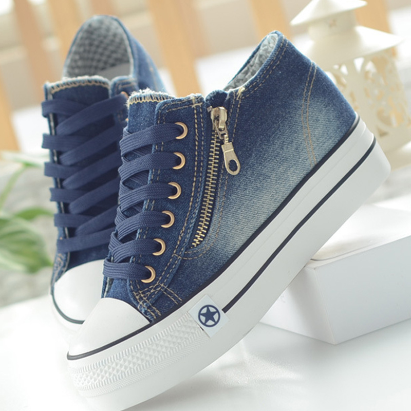 Fashion Sneakers Women Casual Canvas Shoes Tenis Feminino Comfy Ladies Vulcanize Shoes Lace Up Trainers Women Zapatos Mujer 2019