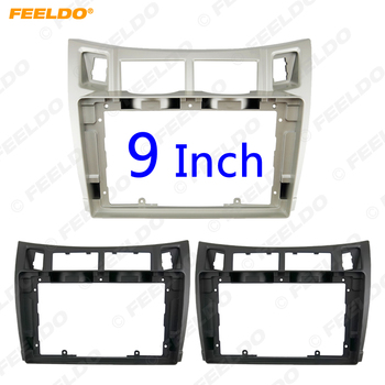 FEELDO Car Audio Fascia Frame Adapter For Toyota Yaris 9 Big Screen CD/DVD Player 2Din Dash Fitting Panel Frame Kit #HQ2373 image