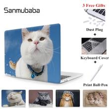 Sanmubaba For Macbook Air Pro Retina 11 12 13 15 inch Laptop Case for mac book apple pro 13.3 15.4 Cute Cat Laptop Bag Sleeve