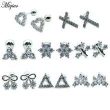 Miqiao 1 шт модные простые серьги из нержавеющей стали женские