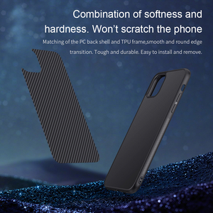 Image 2 - מקרה עבור iPhone 12 Mini 11 Pro Max XR X XS Max iPhone11 מארז Nillkin סינטטי סיבי פחמן פלסטיק כיסוי עבור iPhone 11 מקרה