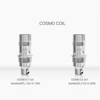 Vaptio Cosmo – bobine de remplacement pour vaporisateur, 1,6 ohm/0,7 ohm, sortie 10-23W, 15 pièces/10 pièces/5 pièces