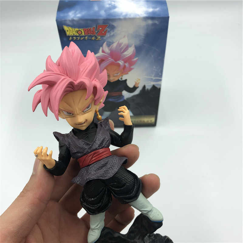 Dragon Ball Z Gogeta Rosa Escuro Pé Bonito Ver. Fusão Rosa Figura de Ação Goku Vegeta DBZ Gogeta PVC Rosa Coleção Preto