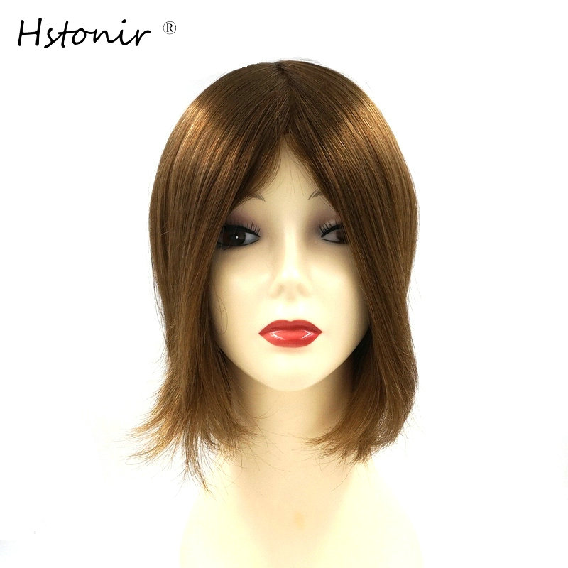 Hstonir Injected Silicon Euorpean Remy Hair Piece Hair Toupee Hair Replacement System H076