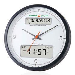 Исламские мусульманские часы Adhan для молитвы с компасом Qibla, календарем Hijri и азаном, современные настенные часы