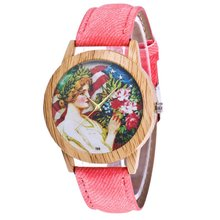 Teenage girl Pattern Luxury Fashion Denimr Strap Cheap Women Quartz Wat