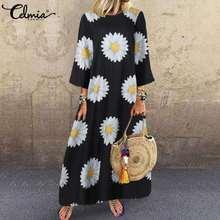 5xl Макси длинное платье женское celmia 2021 лето с круглым