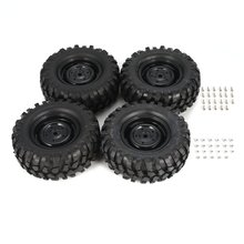 4Pcs 95mm Climbing Car Off-road Wheel Rim and Tires  for 1/10 Monster Truck Racing RC Car Accessories Component 2020 4pcs 2pcs 150mm wheel rim and tires for 1 8 monster truck traxxas hsp hpi e maxx savage flux racing rc car accessories hot