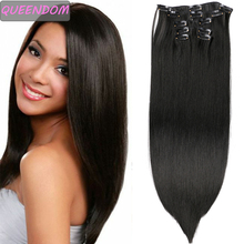 Hair-Extensions Long Black Straight Ombre 6pcs 12-Clips 22-False-Hairpieces Blonde Heat-Resistant