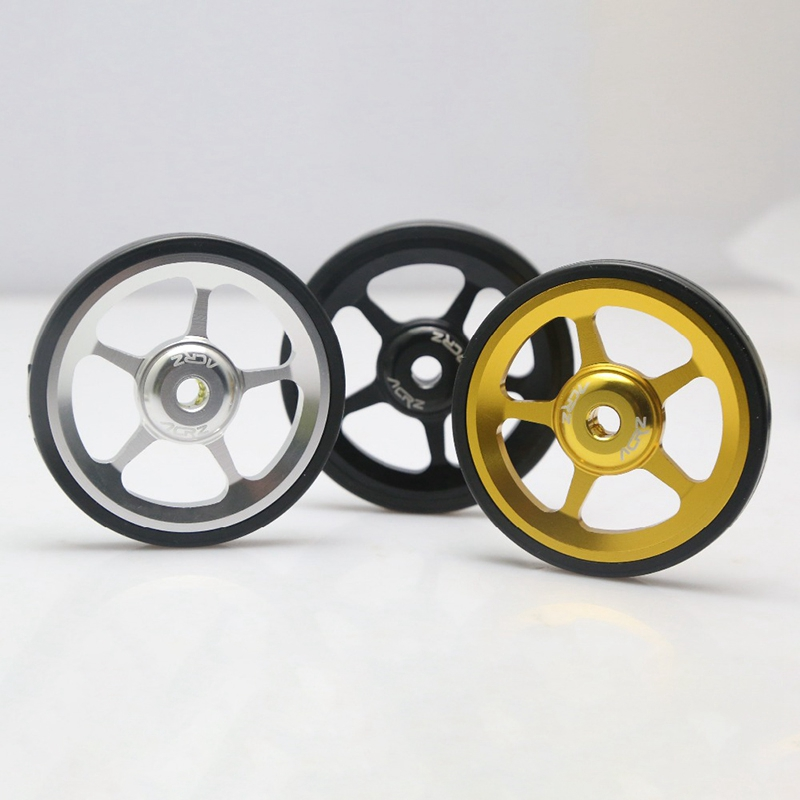 SLING 7075 alloy 1pair Super Lightweight Easywheel for Brompton black//silver//gold black