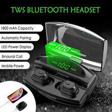 XG20 1500mAh TWS Wireless Earphone Bluetooth Headphones Power Display