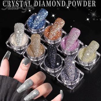 6 kolorów lakier do paznokci w proszku Super Gleam paznokci kryształowy diament w proszku jasny Starlight kryształowy diament w proszku tanie i dobre opinie CN (pochodzenie)
