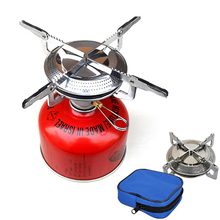 Outdoor gas stove stainless folding camping hiking ultralight portable picnic cooking for travel