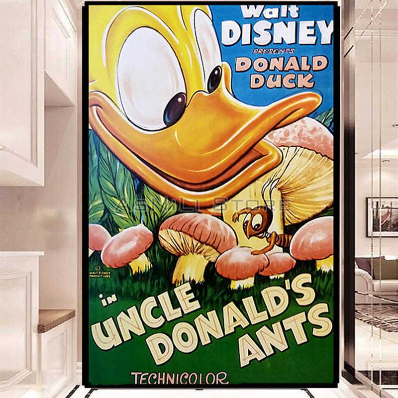5D DIY Diamond Lukisan Cross Stitch Mickey Mouse dengan Donald Duck Penuh Rhinestone Mosaik Diamond Bordir Disney Castle Ikon
