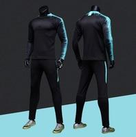 Kids and Adult Soccer Jerseys Jacket Survetement Football Kit Futbol Running Jackets Men Sports Training Tracksuit Uniforms Suit