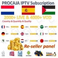 Pro neotv procaja subskrypcja iptv panel kontrolny sprzedawcy Nordic francja hiszpania portugalia niemcy arabski bułgaria w Dekodery STB od Elektronika użytkowa na